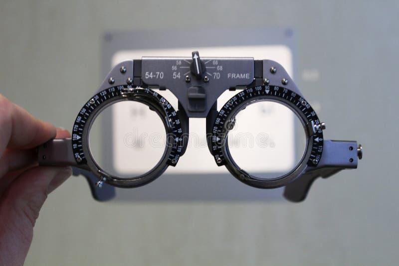 医疗optometric玻璃 诊断视觉 免版税图库摄影