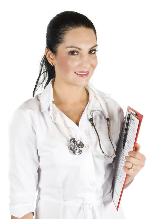 医科学生妇女 免版税库存图片