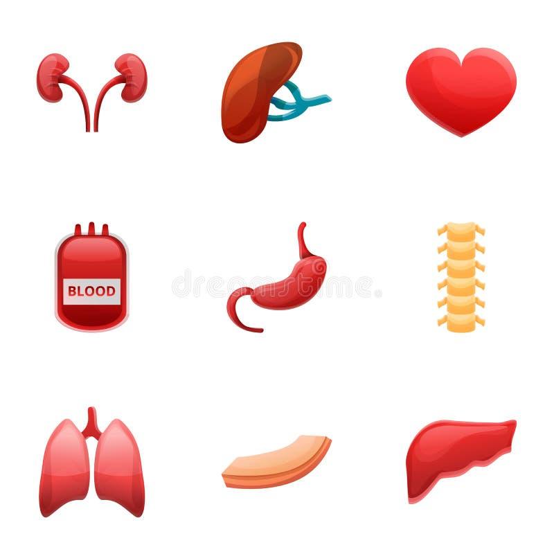 医院人体器官移植象集合,动画片样式 皇族释放例证