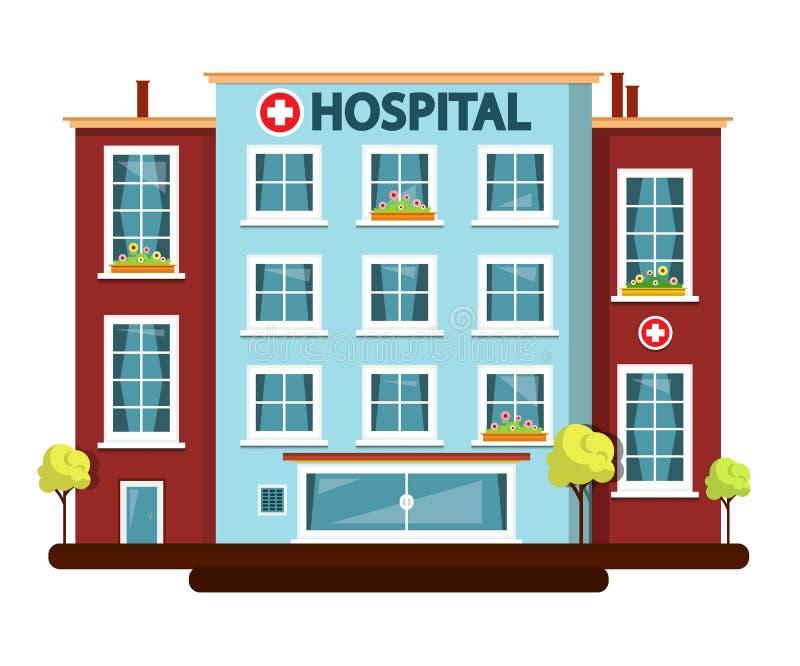 医院传染媒介平的设计大厦隔绝了 库存例证