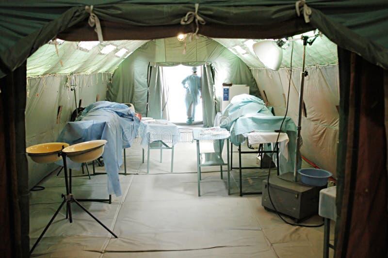 医院军事移动电话 免版税图库摄影