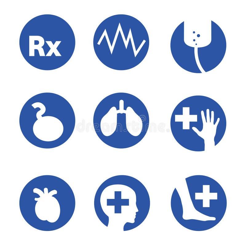 医院图标手术向量 向量例证