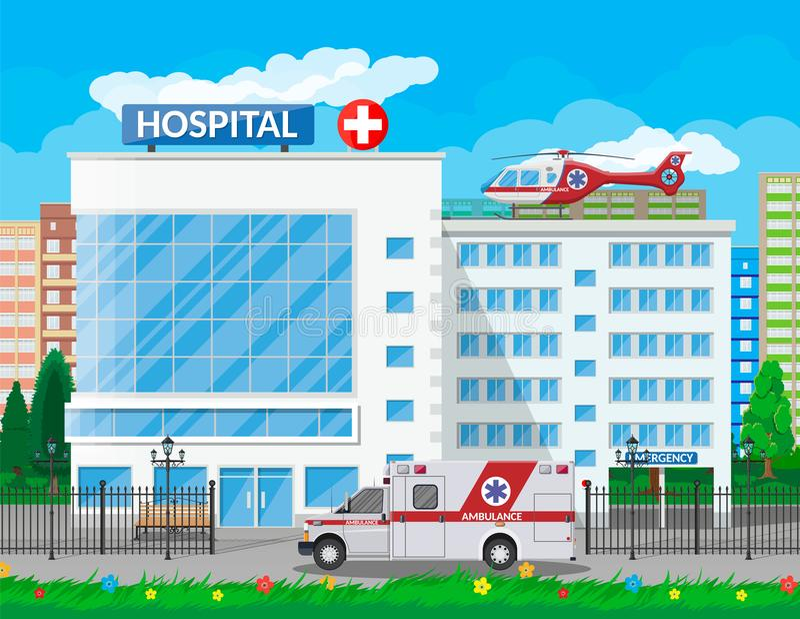医院大厦,医疗象 库存例证