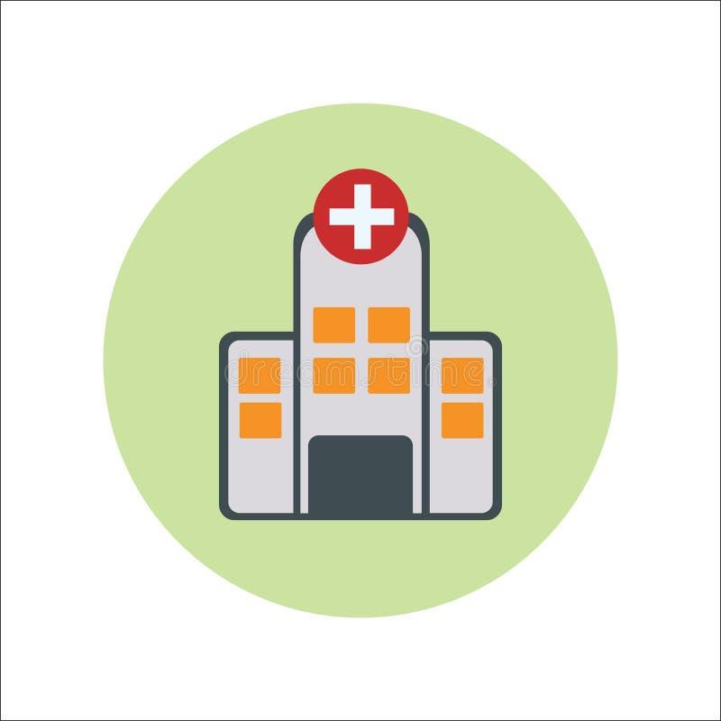 医院平的象传染媒介 库存例证