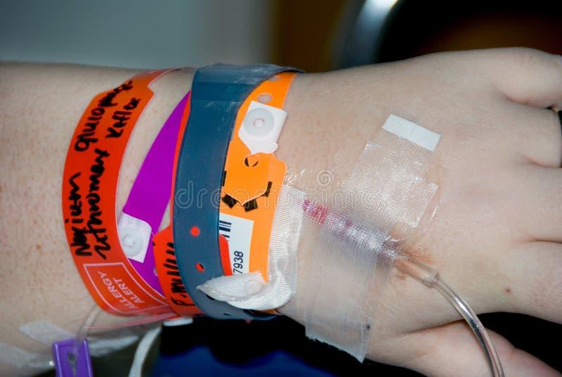 医院iv患者 免版税库存图片