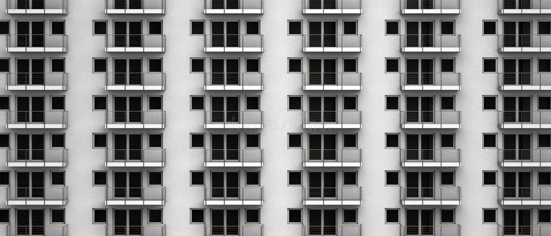匿名公寓虚拟3D翻译在城市高层的 库存图片