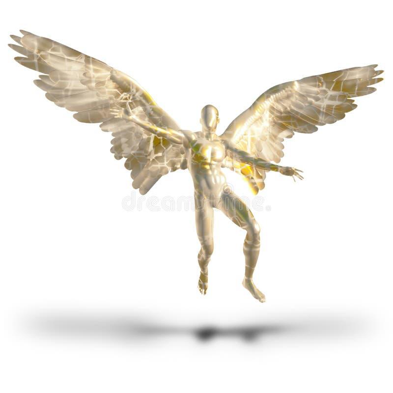 匿名的天使 向量例证