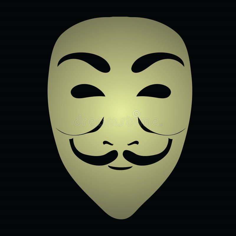 匿名面具 皇族释放例证