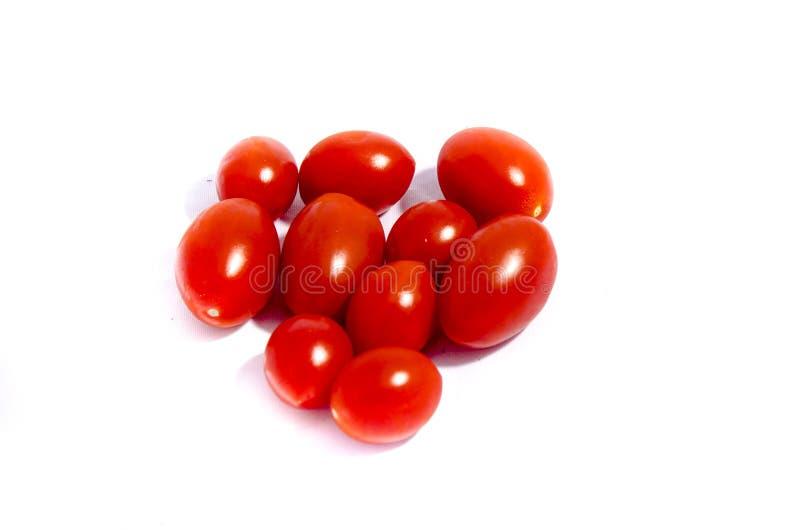 十个超级红色西红柿 免版税库存图片