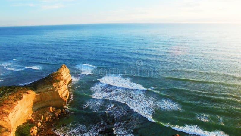 十二位传道者美好的鸟瞰图沿维多利亚海岸, A的 免版税库存照片