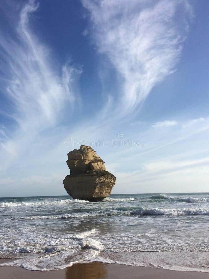 十二位传道者,岩石在海 库存图片