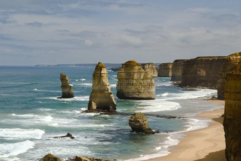 十二apostels的岩石沿大洋路,南澳洲的 库存图片