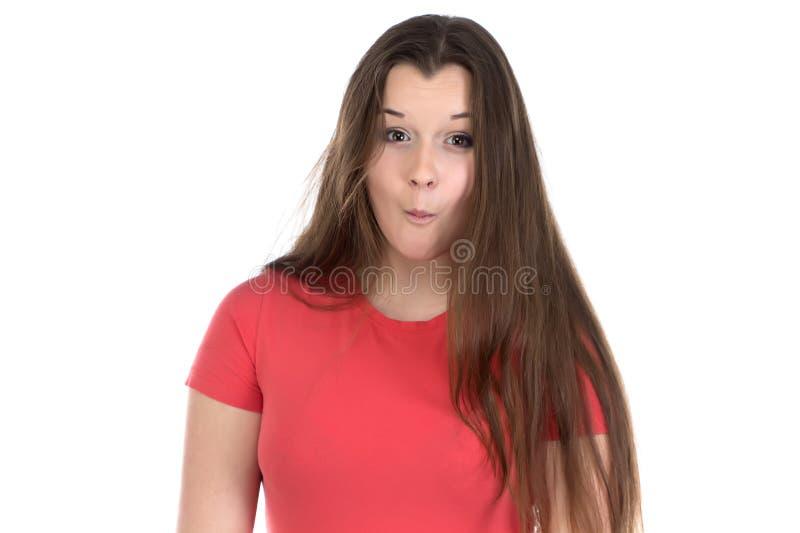 十几岁的女孩照片震动的 库存图片