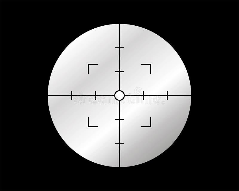 十字准线目标 库存例证