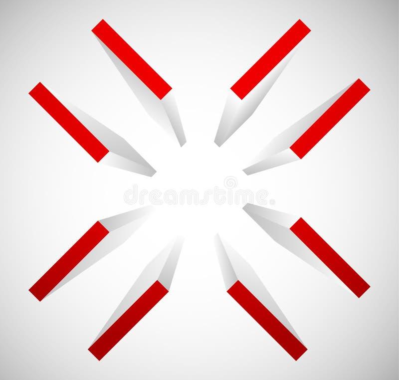 十字准线,目标标记标志 排列,精确度或者准确性骗局 皇族释放例证