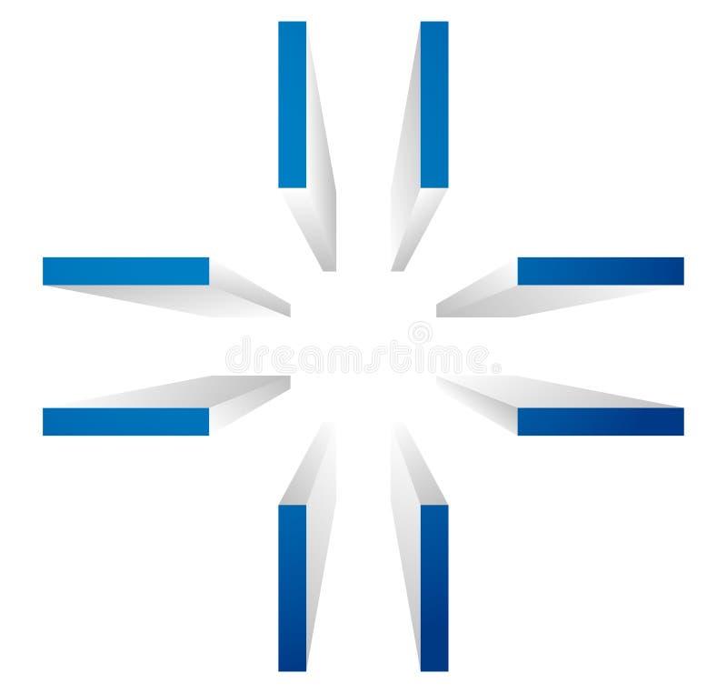 十字准线,目标标记标志 排列,精确度或者准确性骗局 向量例证