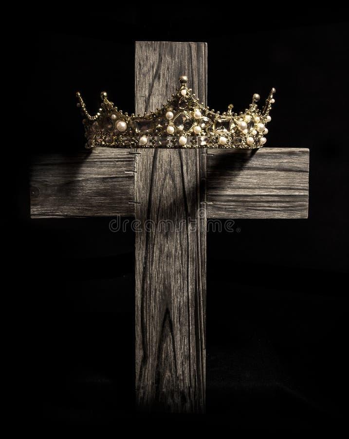 十字架和国王` s加冠 库存图片