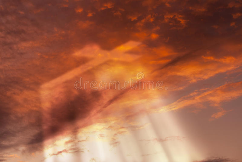 十字架在天堂 免版税库存图片