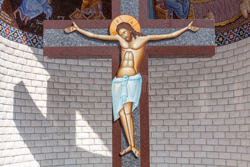 十字架的基督 库存图片