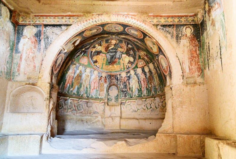 十字架的教会在罗斯谷的 cappadocia 火鸡 免版税库存照片