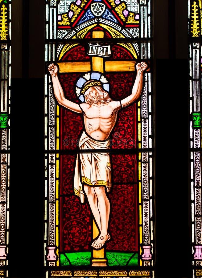 十字架的耶稣基督。 免版税库存图片