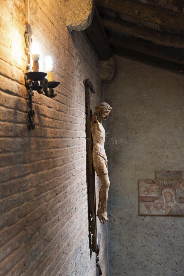 十字架的耶稣基督没有胳膊 图库摄影