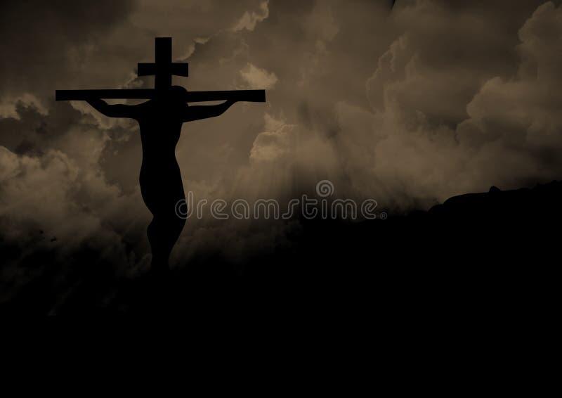 十字架的耶稣基督 免版税库存图片