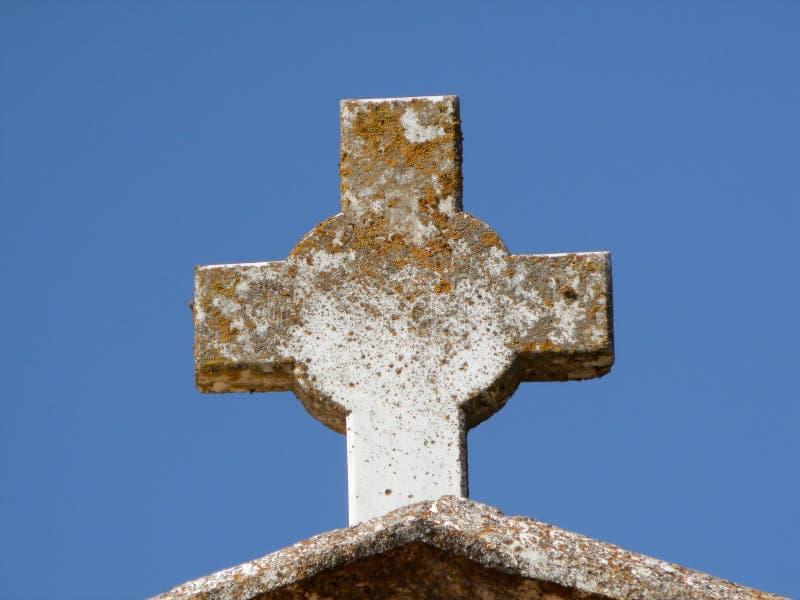 十字架,石头 免版税库存照片