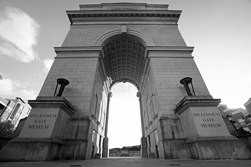 千年门博物馆提醒的牺牲和光顾 免版税库存照片