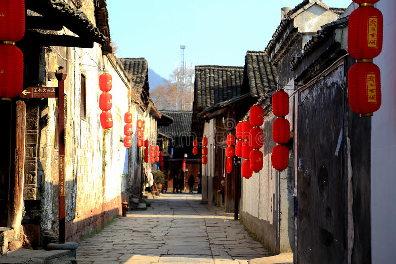 千阳古镇在中国 库存照片