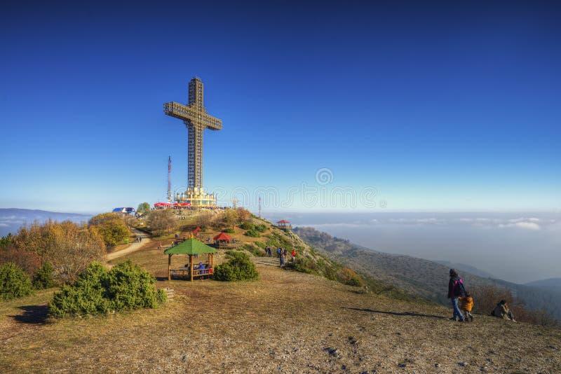 千年十字架 免版税库存图片