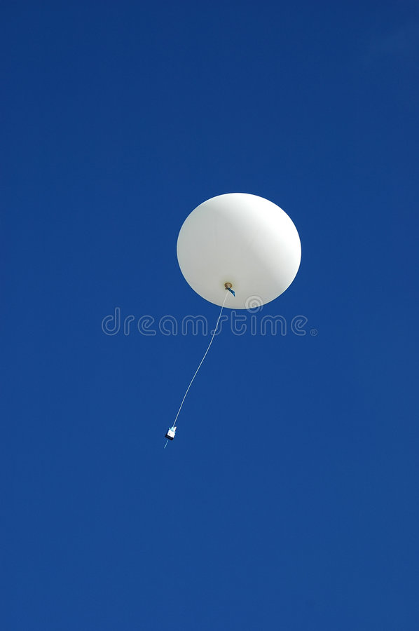 升序气球天气 库存图片