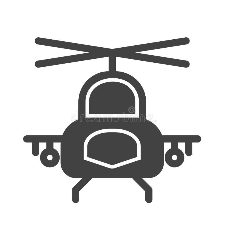 1直升机军事占领抢救 向量例证