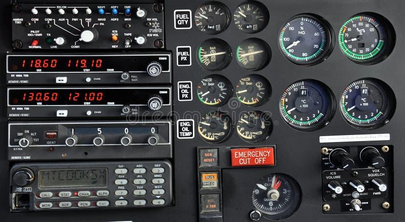 直升机控制板 免版税库存图片
