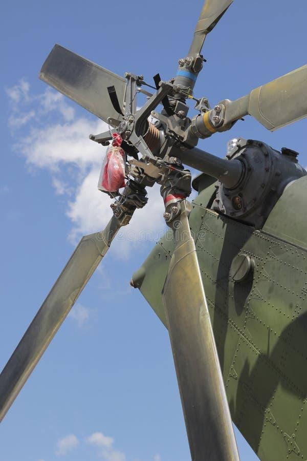 直升机电动子尾巴 库存照片