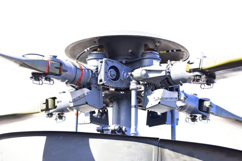 直升机电动子的铁锹 库存图片