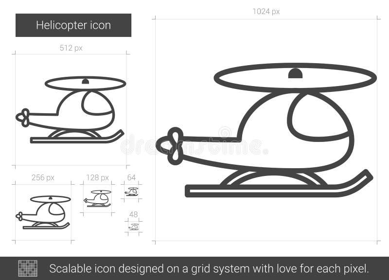 直升机线象 向量例证