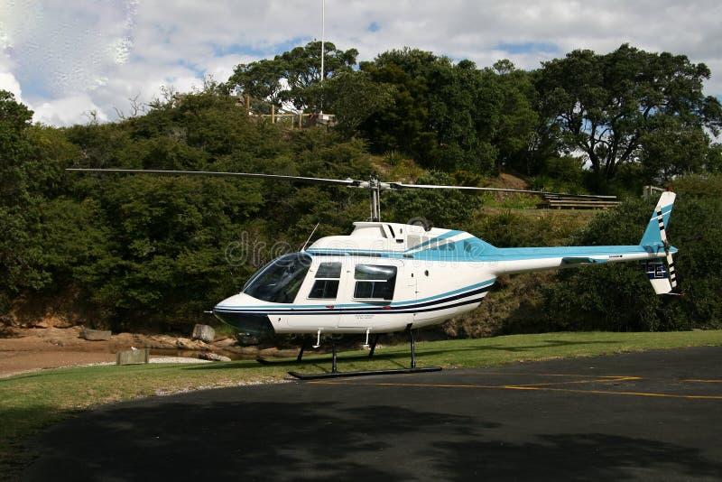 直升机,新西兰 图库摄影