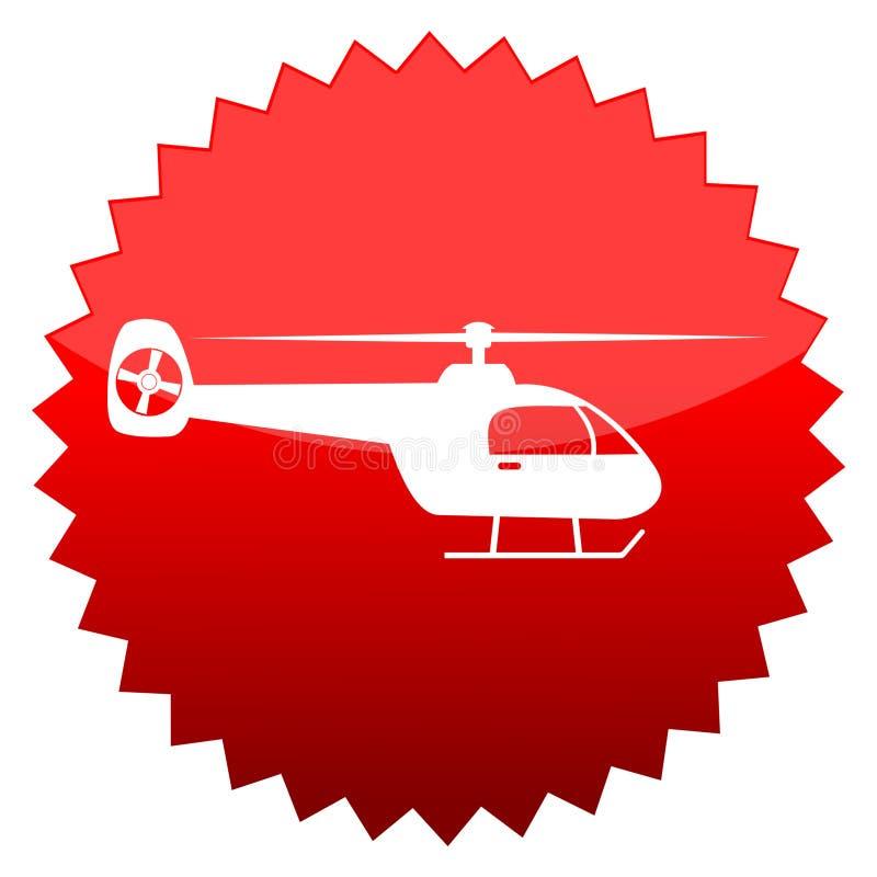 直升机,红色太阳标志 向量例证
