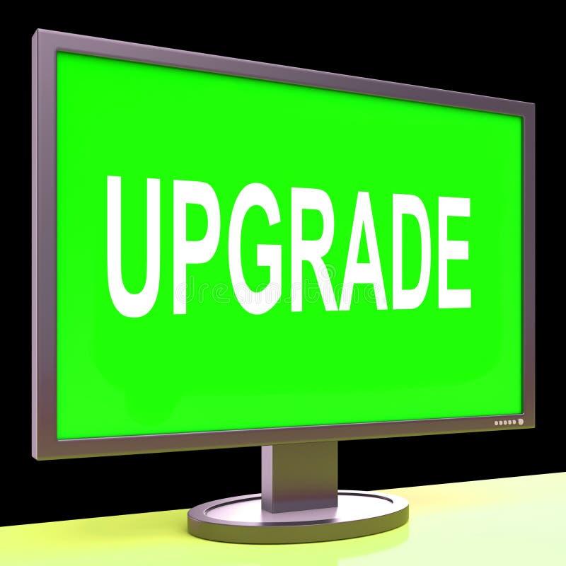 升级屏幕手段改善升级或更新 皇族释放例证