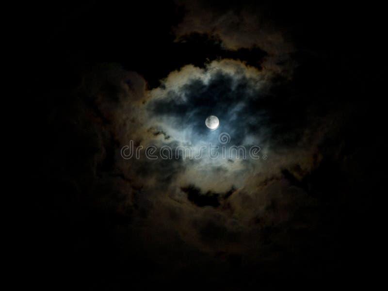 午夜月亮珍珠 库存照片