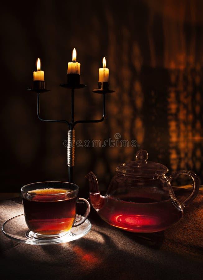午夜茶 免版税图库摄影