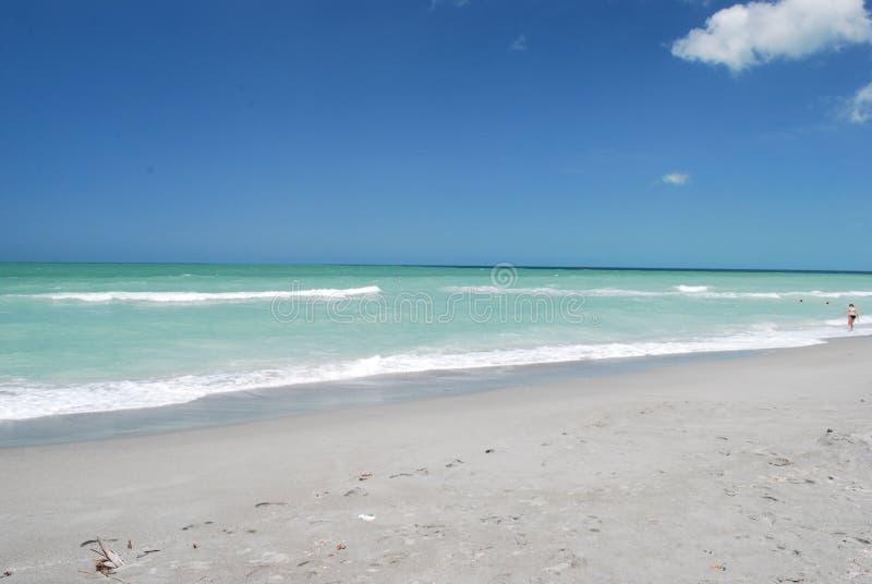 午睡关键海滩在萨拉索塔佛罗里达 库存照片