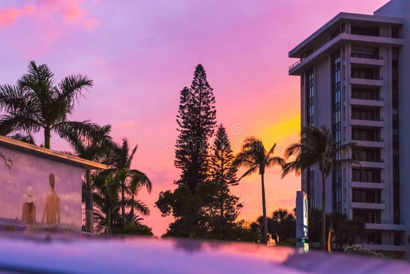 午睡钥匙,美国- 2018年5月11日:午睡钥匙的海滩旅馆在佛罗里达,美国 免版税库存照片