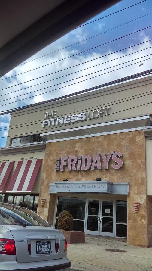 午餐然后健身房 免版税图库摄影