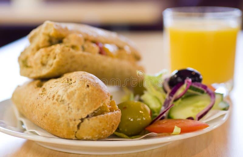 午餐牌照三明治 库存照片