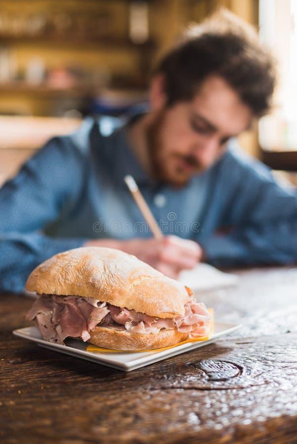 午餐的鲜美三明治 免版税图库摄影
