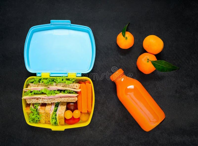 午餐盒用橙汁 库存照片