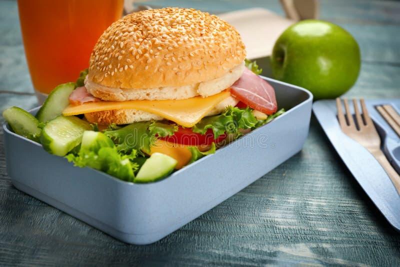 午餐盒用鲜美三明治 库存照片