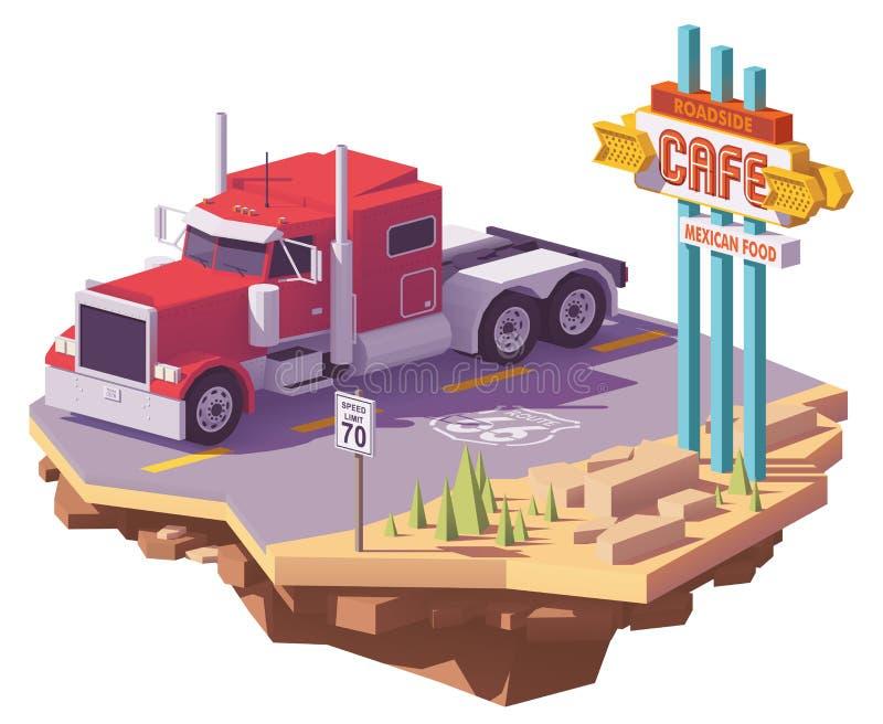 半低传染媒介多美国经典之作卡车 向量例证